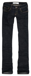 Abercrombie & Fitch Dark Wash Boot Cut Jeans-Dark Rinse