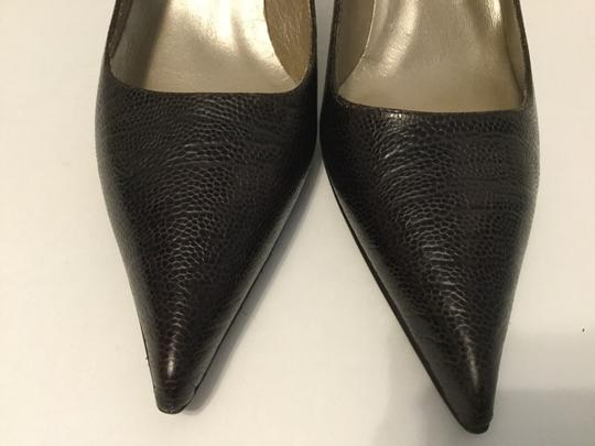 Claudia Ciuti Lining Soles PRICE REDUCED Brown embossed all leather padded insoles Italian Pumps