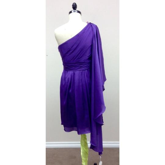 Pronovias Amethyst Satin Hispanica Formal Bridesmaid/Mob Dress Size 8 (M) Image 1