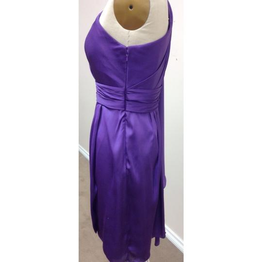 Pronovias Amethyst Satin Hispanica Formal Bridesmaid/Mob Dress Size 8 (M) Image 4