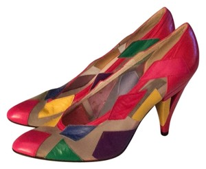 Stuart Weitzman Red yellow purple green Pumps