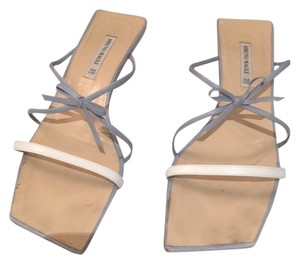 Bruno Magli Baby blue & white Sandals
