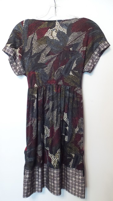 Anthropologie short dress Grey, Black, Light Blue, Deep Red, Off-white Hale Bob Silk Jersey Knit on Tradesy