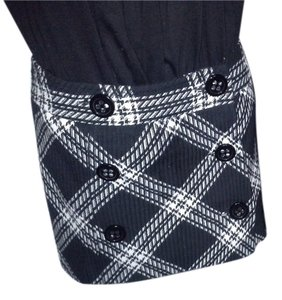 Express Mini Wool Mini Skirt Black and White