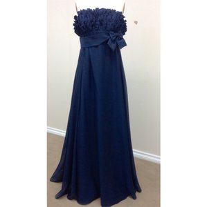 Pronovias Navy Taffeta 4118 New Formal Bridesmaid/Mob Dress Size 12 (L)