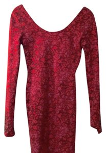 Free People short dress Red print on Tradesy