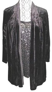 Elementz Embellished Velvet Top BLACK