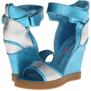 Penny Loves Kenny Multicolor Sandals Turquoise Wedges