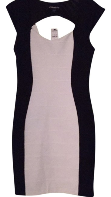 Preload https://img-static.tradesy.com/item/10510396/express-black-and-white-fitted-short-night-out-dress-size-4-s-0-1-650-650.jpg