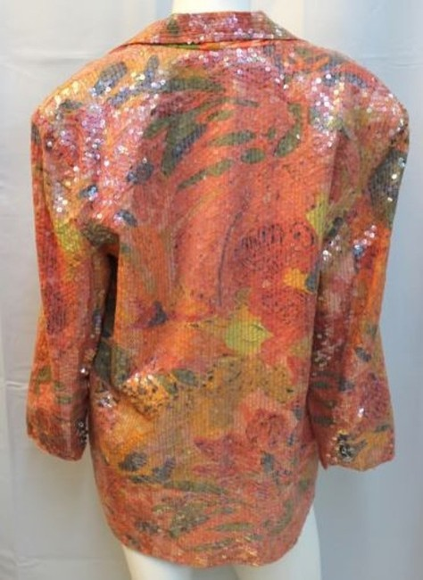 Other Sandy Starkman Embellished Cocktail Top ORANGE