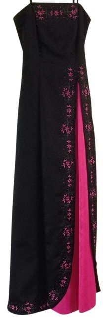 Preload https://item2.tradesy.com/images/morgan-and-co-black-and-pink-formal-dress-size-4-s-1051096-0-0.jpg?width=400&height=650