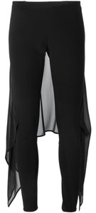 Gareth Pugh Draped Chiffon Overlay Trousers Pants
