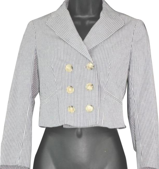 Preload https://item1.tradesy.com/images/theory-graywhite-stretch-stripes-cropped-cotton-blend-blazer-jacket-0-blouse-size-0-xs-10511215-0-2.jpg?width=400&height=650