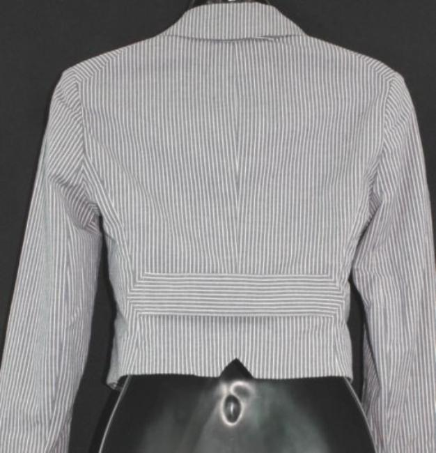 Theory Cropped Cotton Jacket Top gray/white