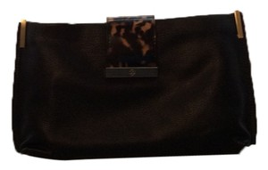 Ann Taylor Black with tortoise shell clasp Clutch