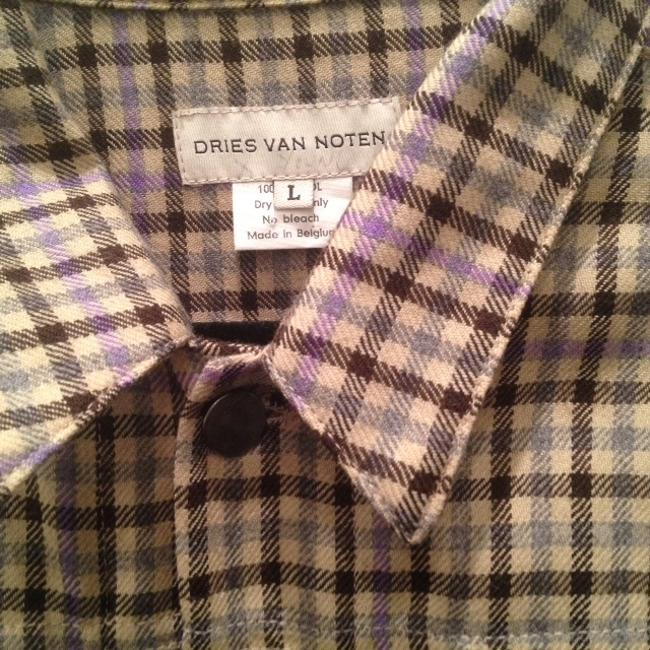 Dries van Noten plaid - tan, brown, purple Jacket