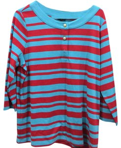 Talbots T Shirt blue and red