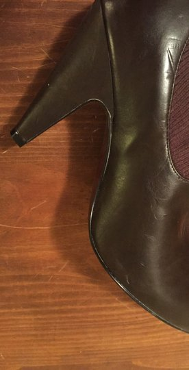 Jessica Simpson Leather Cloth Brown Boots