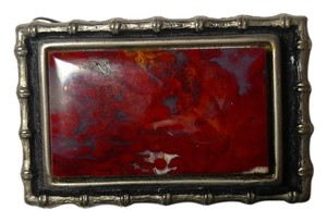 Other Large Jasper Gemstone Belt Buckle A074