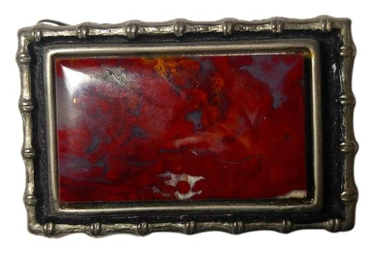 Other Large Jasper Gemstone Belt Buckle A074 Image 0