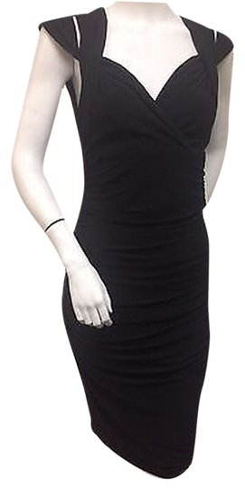 54516cec56f 70%OFF Laundry by Shelli Segal Laundry Black Cocktail Dress Ruched Sequined  Shoulder Sleeveless Tags