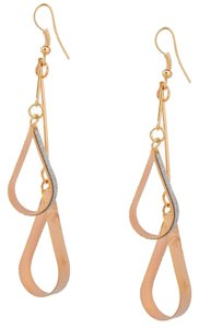 Gold & Silver Long Double Hoop Earrings New J1821