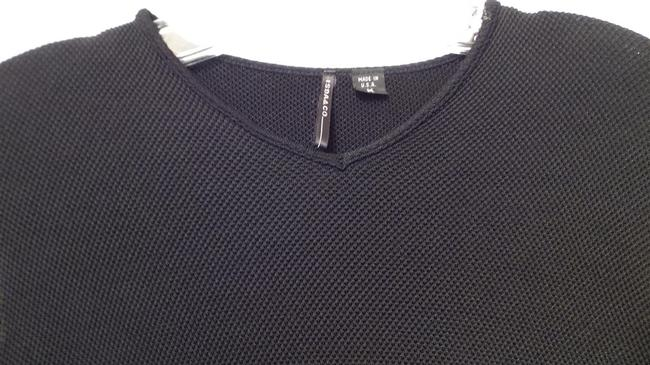 Isda & Co. Anthropologie Knit Waffle Top Black