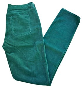 J.Crew Green Corduroy Skinny Pants Forest Green