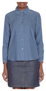 A.P.C. Button Down Shirt Denim Blue