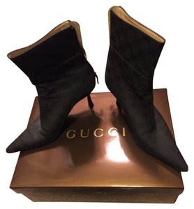 Gucci Black Monogram Boots