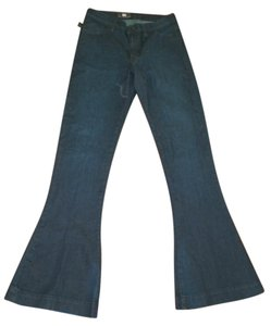 Rock & Republic Dark Wash Joe's Citizens Of Humanity 7 For All Mankind Flare Leg Jeans-Dark Rinse