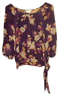 Moulinette Soeurs Top Purple Flower Print
