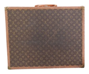 Louis Vuitton Leather Canvas Monogram Suitcase Vintage Brown Travel Bag