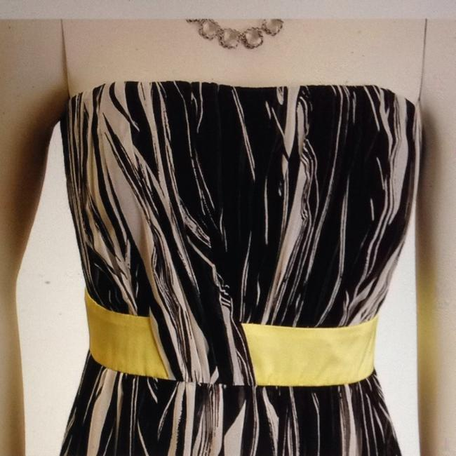 Max and Cleo short dress Black/white/yellow on Tradesy