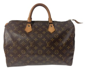 Louis Vuitton Speedy Speedy 35 Monogram Alma Neverfull Satchel in Brown