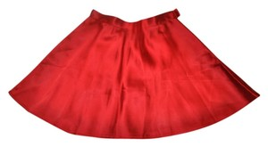 Ralph Lauren Satin Holiday Mini Mini Skirt Red