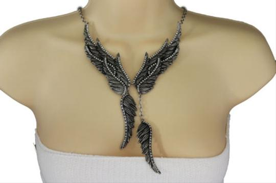 Preload https://item1.tradesy.com/images/women-antique-silver-long-necklace-metal-angel-wings-fashion-jewelry-earrings-10516555-0-0.jpg?width=440&height=440