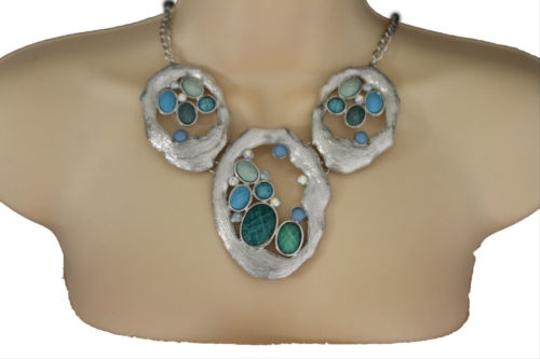 Preload https://item3.tradesy.com/images/women-silver-necklace-metal-chains-nautical-charms-turquoise-blue-beads-earrings-10516567-0-0.jpg?width=440&height=440