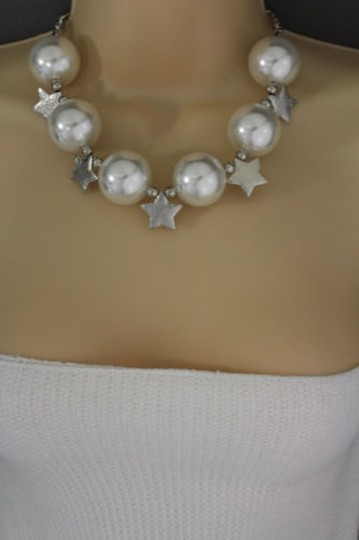 Other Women Short Cream Necklace Stars Ball Beads Fashion Jewelry Earring