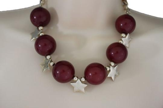 Preload https://item2.tradesy.com/images/women-short-red-necklace-gold-metal-stars-big-ball-beads-fashion-jewelry-earring-10516576-0-0.jpg?width=440&height=440