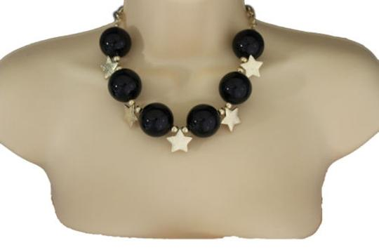 Preload https://item5.tradesy.com/images/women-short-black-necklace-metal-gold-star-big-ball-bead-fashion-jewelry-earring-10516594-0-0.jpg?width=440&height=440
