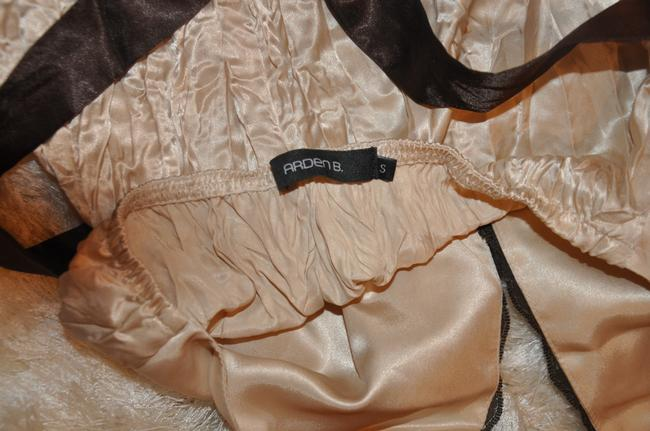 Arden B. Satin Night Out Date Night Lace Trim Mocha Halter Top