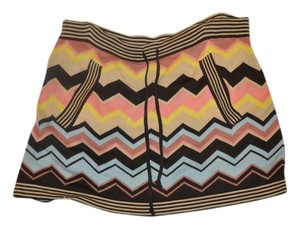 Missoni for Target Mini Knit Mini Skirt Brown Gold