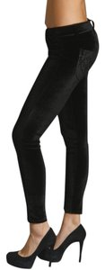 Siwy Velour Metallic Night Out Skinny Pants black velvet