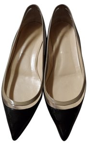 Christian Louboutin Black and Beige Flats