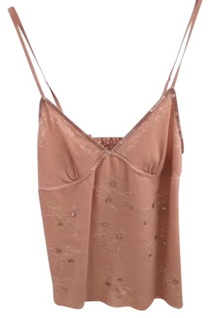 Abercrombie & Fitch Abercrombieandfitch A&f Bebe Bcbg Camisole Sequins Strappy Designer Hollister Aliceolivia Likenew Luxe Dressy Casual Top Beige