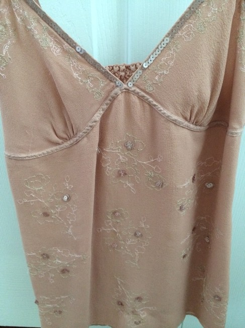 Abercrombie & Fitch Abercrombieandfitch A&f Bebe Bcbg Sole Sequins Strappy Designer Hollister Aliceolivia Likenew Luxe Dressy Casual Top Beige