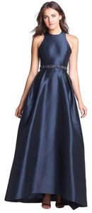Monique Lhuillier Racer Criss Cross Beaded Dress