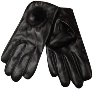 Other SOFT BLACK LEATHER DRIVING GLOVES WITH RABBIT FUR DETAIL