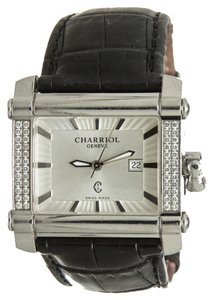 Charriol Charriol Black Crocodile and Stainless Steel Watch
